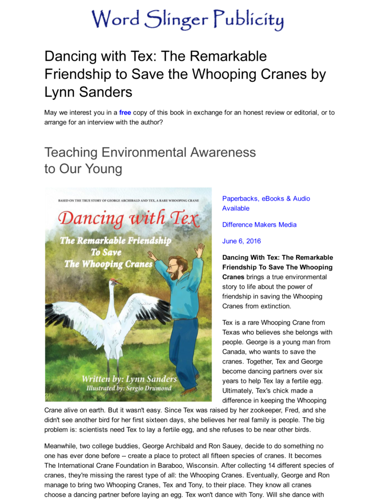 Children's Nonfiction_Environment_ TX True Story - Saving a Species from Extinction-1